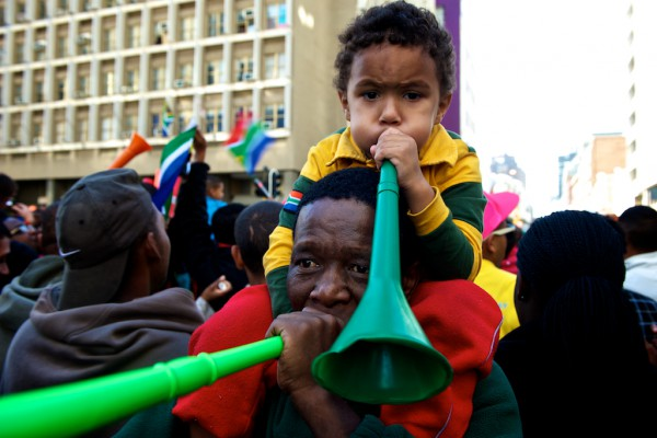 Vuvuzela in der Long Street Nr.2 und Nr.3
